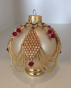 Beaded Ornaments  Vintage Christmas Decor Victorian by Shivano                                                                                                                                                      More