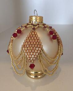 Beaded Ornaments  Vintage Christmas Decor Victorian by Shivano                                                                                                                                                      More