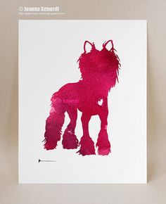 Chinese crested art print Raspberry watercolor by ColorWatercolor