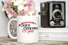 Proud to be a Police Officer's Mom Cop's Mom Gifts