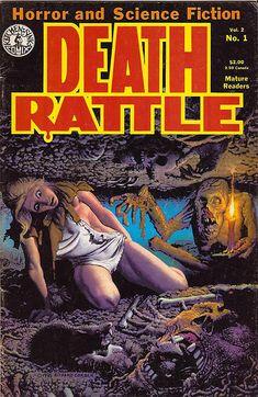 Death Rattle, vol. 2 no. October, Cover art by Richard Corben. Sci Fi Comics, Bd Comics, Horror Comics, Horror Films, Comic Book Covers, Comic Books Art, Comic Art, Pulp Fiction Art, Science Fiction
