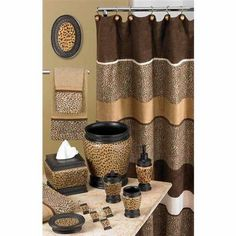 Leopard Print Bathroom Accessories Set   The Best Image Search
