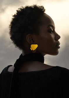 The Terraced Deco Earrings are inspired by the brutalist age of design, used extensively in downtown Jo'burg. Light enough to wear until sunset, and late into the night.  The Terraced Deco Earrings are made up of high polished brass and a sterling silver pin. They are 3,2cm in width and 3,6cm in height.