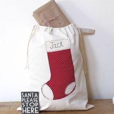 Personalizzati Christmas Santa Sacco