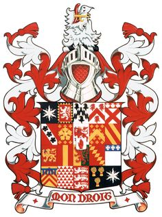 Arms of the Ingleby Baronets from Ripley Castle in Yorkshire. Painted by David Waterton-Anderson. Medieval Art, Medieval Fantasy, Ripley Castle, Baronet, National Symbols, Family Crest, Science Art, Coat Of Arms, Design Elements