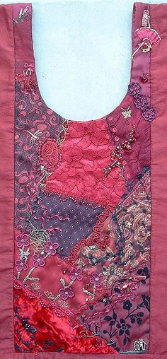 I ❤ crazy quilting . . . Crazy quilt dress front- This is the crazy quilted Panel for the Front of my Bridesmaids dress