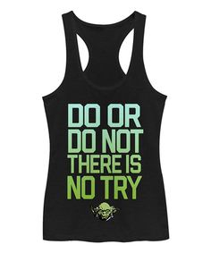 Look what I found on #zulily! Chin Up Apparel Black Star Wars Yoda Do Try Racerback Tank by Chin Up Apparel #zulilyfinds