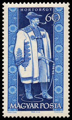 Stamp printed by Hungary, shows provincial costumes of Hortobágy , circa 1963 Folk Costume, Costumes, Hungary History, Postage Stamp Art, Envelope Art, Stamp Printing, Vintage Stamps, Mail Art, Stamp Collecting