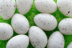 Easter eggs in green grass. Free Photo