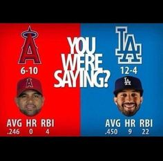 The one stat they left out:  10yrs, $ 254 million vs. 8yrs, $ 160 million.  Two more years of old man Pujols is definitely not worth the $ 94 million difference!!!