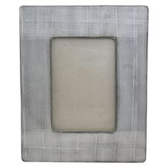 "Nate Berkus™ Cross Hatch Ceramic Photo Frame - 4""x6"""