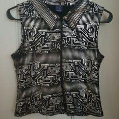 Top Wear it unzipped or zipped Tops Blouses