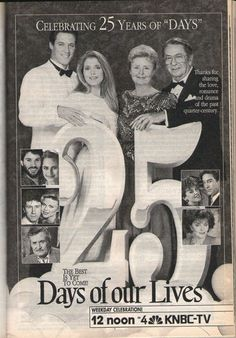 TV Guide Days of Our Lives 25th Anniversary 1990
