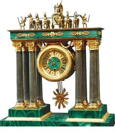 Russian Malachite Clock