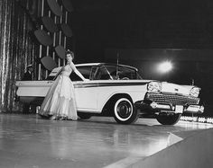 Presenting the 1959 Ford Galaxie at the Chicago Auto Show