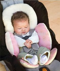 Koly/® Children Kids Safety Car Seat Belts Pillow Protect Shoulder Head Protection Cushion Bedding Pink