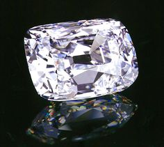 The Archduke Joseph diamond from the legendary region of Golconda in India - a 76.02 carat, D-color, internally flawless, type IIa, cushion cut. Christie's Geneva: sold for $280,000 per carat ($21.47M).