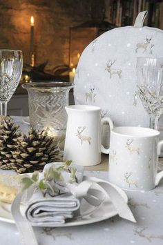 Buy winter china - and keep it aside for this time of year only. It creates a sense of occasion and spurs creativity