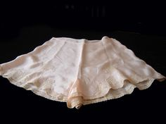 Vintage Tap Panties Silk Alencon Lace Trim 40s   eBay