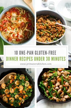 Here are the best 10 One-Pan Gluten-free Dinner Recipes Under 30 Minutes that will help you eat healthier even during your busy days. Best Gluten Free Recipes, Gluten Free Recipes For Dinner, Paleo Dinner, Quick Recipes, Healthy Dinner Recipes, Paleo Recipes, Fish Recipes, Meal Recipes, Healthy Foods