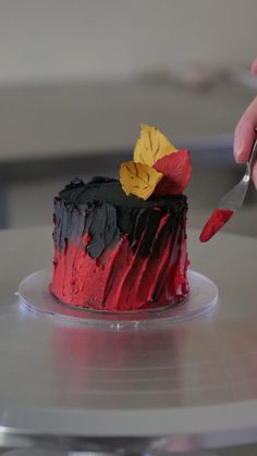 Cake Decorating Frosting, Cake Decorating Designs, Cake Decorating Videos, Cake Decorating Techniques, Cake Designs, Mini Desserts, Chocolate Desserts, Mini Cakes, Cupcake Cakes