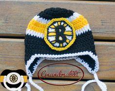 Boston Bruins Earflap Hat Hats Boston Bruins Baby Kids