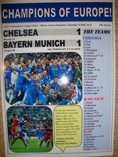 Chelsea 1 Bayern Munich 1 - 2012 Champions League final - souvenir print