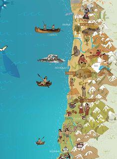 Un segundo mapa de Mi Chilito ha llegado! Este Mapa ofrece un educativo y decorativo recorrido de los pueblo originarios de Chile. La ilustradora Vero Bazán estuvo más de 3 meses junto a Mapas Compass estudiando a nuestros aborígenes para plasmarlo en este atractivo mapa. Lo que debes saber sobre este Mapa: Tamaño: 23 Continents, Homeschool, World, Books, Poster, Travel, Animals, Montessori, Maps