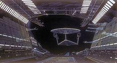 Ralph McQuarrie's concept art for a Star Trek movie in 1976-1977