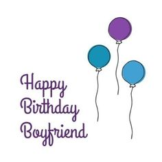 Blue And Purple Balloons floating up into the air with simple purple text Happy Birthday Boyfriend, Purple Balloons, Texts, Templates, Simple, Blue, Stencils, Template, Texting