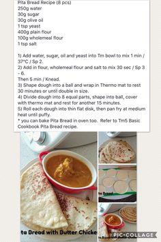 Pita Bread Pizza Recipes, Bread Recipes, Baking Recipes, Bread Bun, Pita Bread, Indian Food Recipes, Asian Recipes, Thermomix Bread, Quick Bread