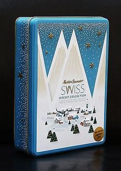 Marks and #spencer #marks & #spencer m&s swiss biscuit tin christmas…