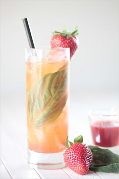 Strawberry Cachaca Cocktail