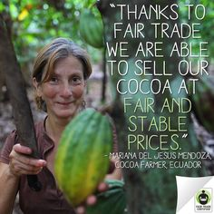 When you choose #FairTrade #chocolate this #Holiday season, you're helping people like Mariana provide a better future for their families. #GiveFair  http://FairTradeUSA.org/Holidays