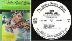 "Various Composers / Great Classical Music - Volume 3 (1959) / Golden MH-9903 (Album, 12"" Vinyl) / Box Set, $9.50 Great America, Box Sets, Composers, Classical Music, Album, Songs, Musica, Song Books, Musicians"