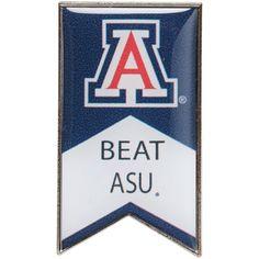 Arizona Wildcats Beat ASU Rivalry Banner Pin - $6.99
