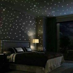 Cute 100 PCS In The Dark Stars Shape Home Glow Wall Stickers | Dark Star  And Dark