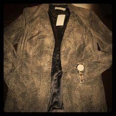 "Leopard Print Polyester Blazer Nordstrom Rack bought. ""Chloe K."" Leopard print. Brand new. Never worn. Chloe K Jackets & Coats Blazers"