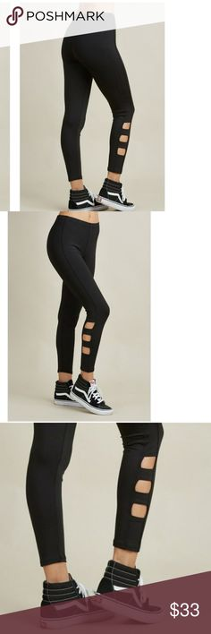 EUROPA WORKOUT PANTS Strong sewing design Ladder cut on bottom on both legs Ankle length Bike fit Active gym leggings Pants Track Pants & Joggers