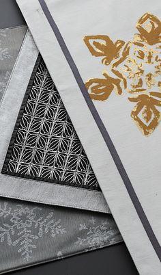 "Metallic textiles instantly say ""festive table."""