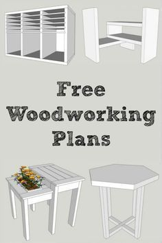 Want free, easy-to-read woodworking plans? Sign up at The Handyman's Daughter and get access to all the plans in her woodworking plans library! Download and print the PDF of each project and get building! | building plans | free plans | furniture plans | furniture projects #furnitureplans #woodworkingeasy
