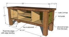Ana White | Build a Tryde Media Console | Free and Easy DIY Project and Furniture Plans
