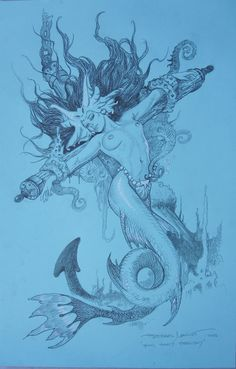 SIREN BY ESTEBAN MAROTO MOST RECENT COMMISSSION  SOLD Comic Art