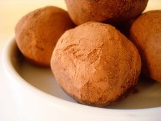 These chocolate cream cheese truffles are much easier and less fussy than traditional truffles, but are still full of rich chocolate flavor and a creamy center.