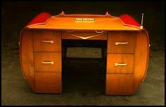 Caddy-inspired desk