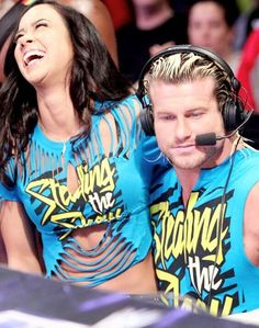 AJ Lee & Dolph Ziggler♡ They were so cute together why did they break uppp. Wrestling Superstars, Wrestling Divas, Page Wwe, Wwe Couples, Nxt Divas, Dolph Ziggler, Wwe Tna, Aj Lee, Wwe World