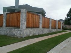 Here are some really cool stone fence ideas. To find out more about stone fences or to have a stone fence designed and installed contact Fence Workshop™ today.