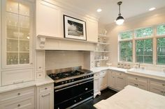 Sully Cooking Range - Art Culinaire - Lacanche USA Layout Design, Design Ideas, Bungalow, Glass Front Cabinets, White Cabinets, Kitchen Cabinets, Kitchen Island, Floors Kitchen, Kitchen Windows