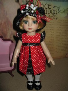 """NEW 5 pc outfit fashion w/shoes Patsy Ann Estelle Tonner10"""" doll Love Love Love"""