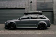 Beautifully gray Audi A4 Wagon.